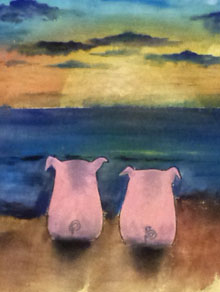 Sunset Pigs